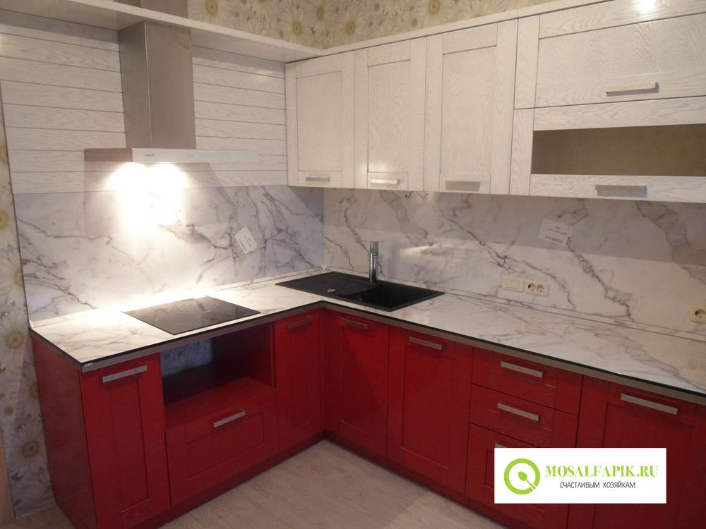фото красно белая кухня